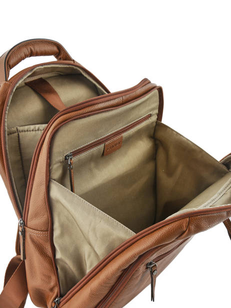 Backpack 2 Compartments + 15'' Pc Etrier Brown flandres 69510 other view 5