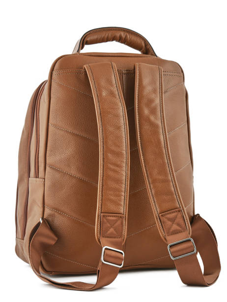Backpack 2 Compartments + 15'' Pc Etrier Brown flandres 69510 other view 3