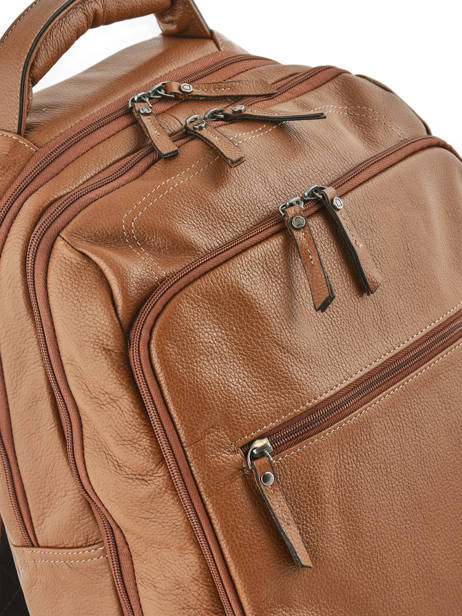 Backpack 2 Compartments + 15'' Pc Etrier Brown flandres 69510 other view 1