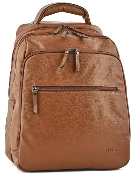 Backpack 2 Compartments + 15'' Pc Etrier Brown flandres 69510