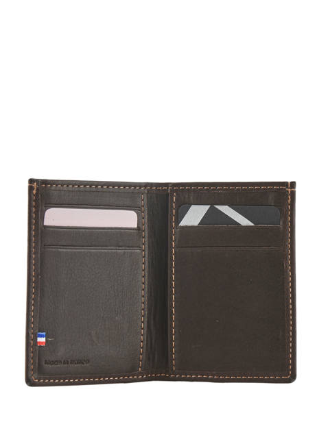 Card Holder Leather Etrier Brown oil 790013 other view 2