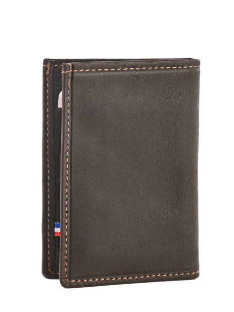 Card Holder Leather Etrier Brown oil 790013 other view 1