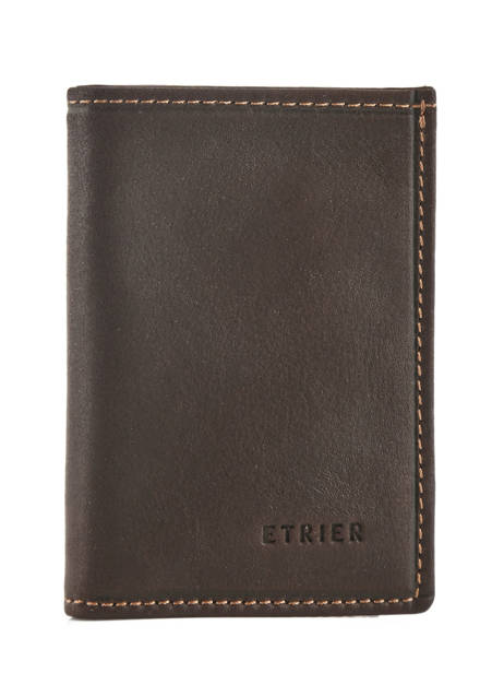 Card Holder Leather Etrier Brown oil 790013