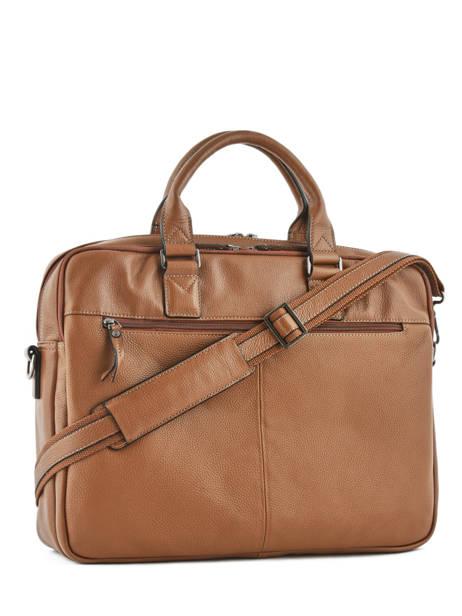 Briefcase 2 Compartments + 15'' Pc Etrier Black flandres L12846 other view 3