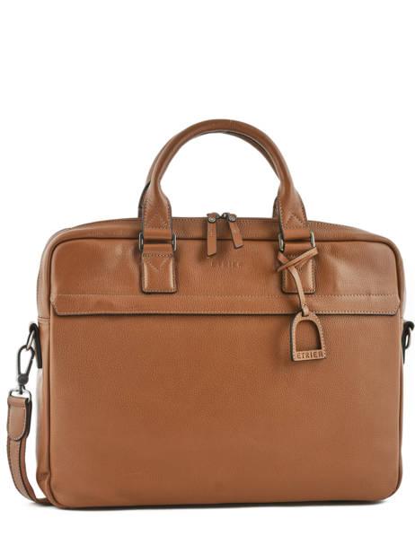 Briefcase 2 Compartments + 15'' Pc Etrier Black flandres L12846