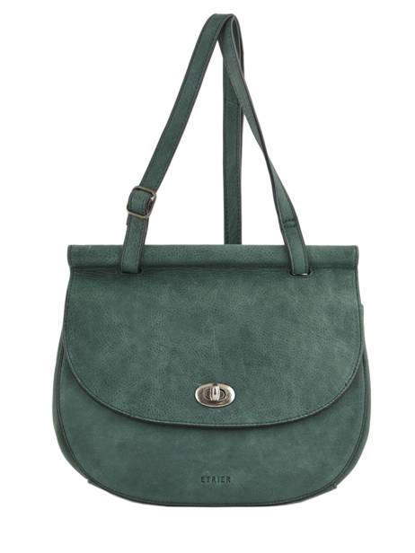 Shoulder Bag Casac Leather Etrier Green casac ECAS01