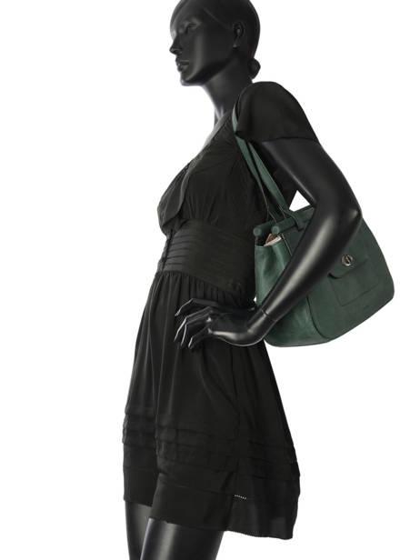 Shopper Casac Leather Etrier Green casac ECAS04 other view 2