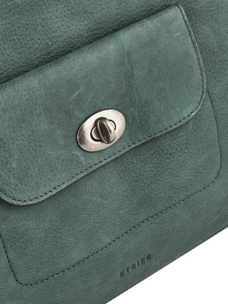 Shopper Casac Leather Etrier Green casac ECAS04 other view 1