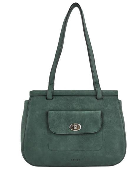 Shopper Casac Leather Etrier Green casac ECAS04