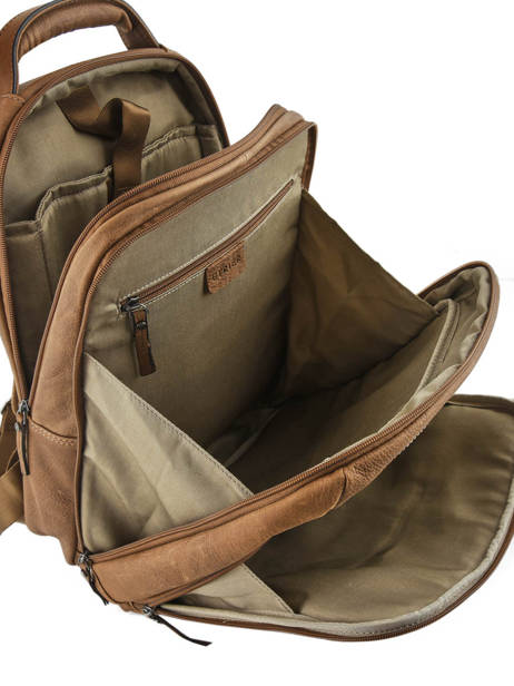 Backpack 2 Compartments + 15'' Pc Etrier Brown spider S69510 other view 4