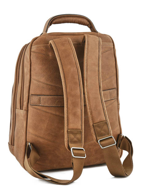 Backpack 2 Compartments + 15'' Pc Etrier Brown spider S69510 other view 3