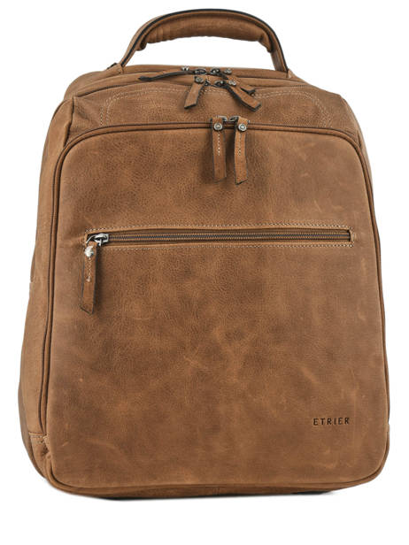Backpack 2 Compartments + 15'' Pc Etrier Brown spider S69510