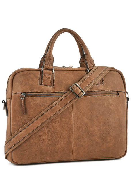Briefcase 1 Compartment + 15'' Pc Etrier Brown spider S83609 other view 3
