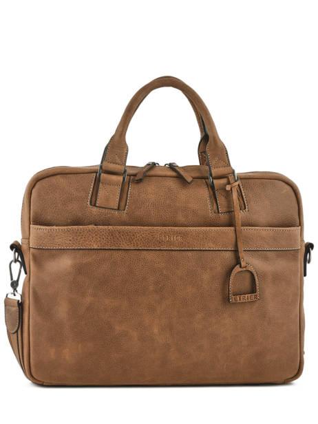 Briefcase 1 Compartment + 15'' Pc Etrier Brown spider S83609