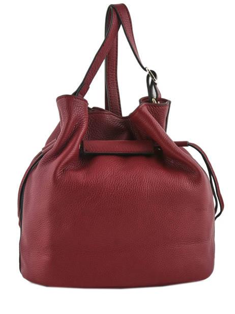 Shoulder Bag Paris Leather Etrier Red paris EPAR10 other view 3