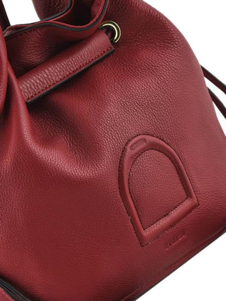 Shoulder Bag Paris Leather Etrier Red paris EPAR10 other view 1