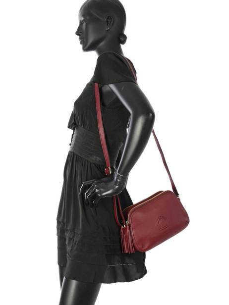 Shoulder Bag Paris Leather Etrier Red paris EPAR08 other view 2