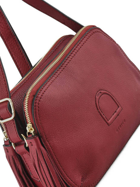 Shoulder Bag Paris Leather Etrier Red paris EPAR08 other view 1