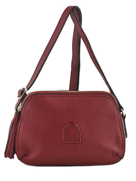 Shoulder Bag Paris Leather Etrier Red paris EPAR08