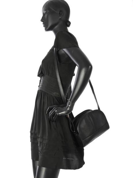 Shoulder Bag Galop Leather Etrier Black galop EGAL01 other view 2