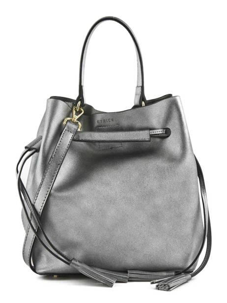 Purse Kyo Leather Etrier Silver kyo EKY604