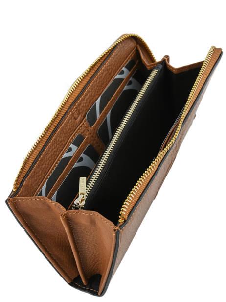 Wallet Leather Etrier Brown paris EPAR95B other view 2