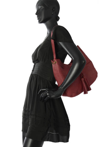 Shopper Allure Leather Etrier Red allure EBALL06 other view 2