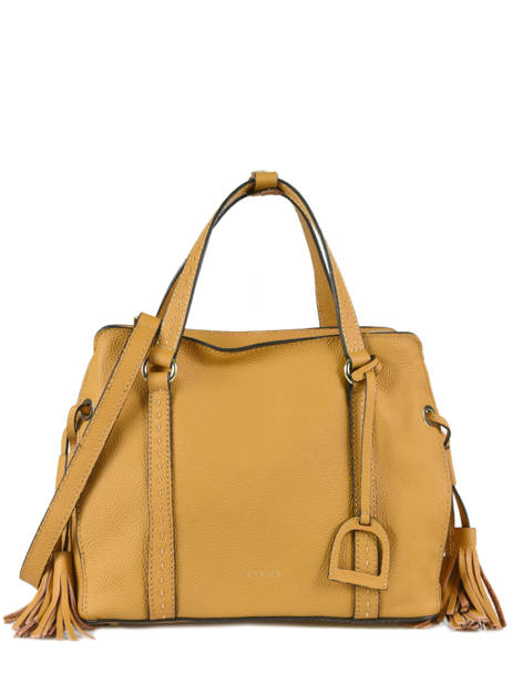 Shopper Tradition Leather Etrier Yellow tradition EHER024