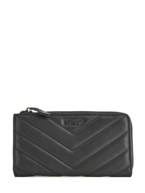 Wallet Leather Etrier Black attelage EATT91