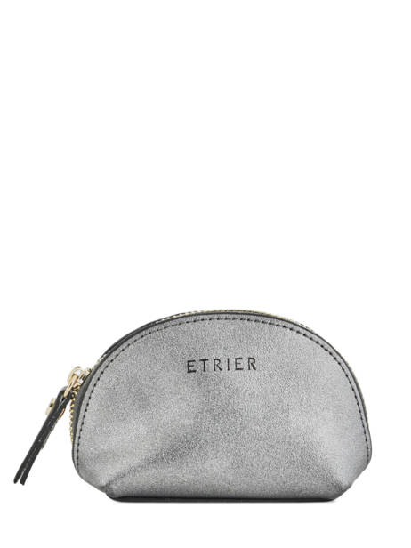Purse Leather Etrier Silver kyo EKY902
