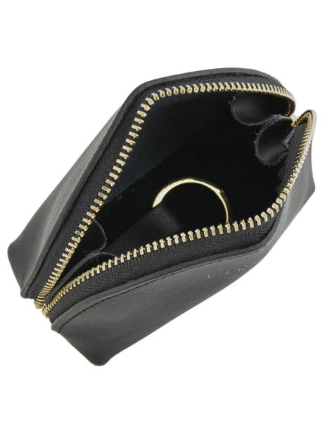 Purse Leather Etrier Black kyo EKY902 other view 1