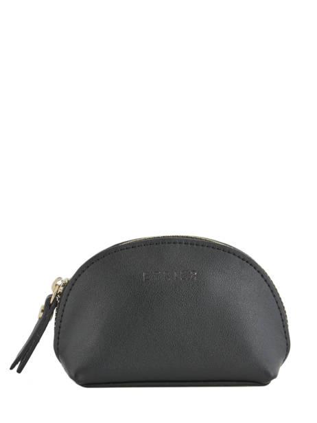 Purse Leather Etrier Black kyo EKY902