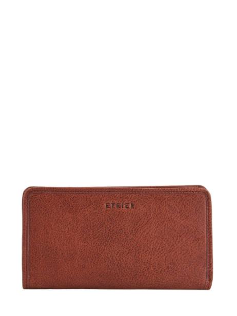Wallet Leather Etrier Brown galop EGAL906