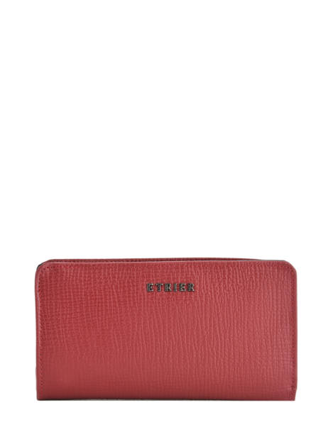 Wallet Leather Etrier Black tess ETESS96