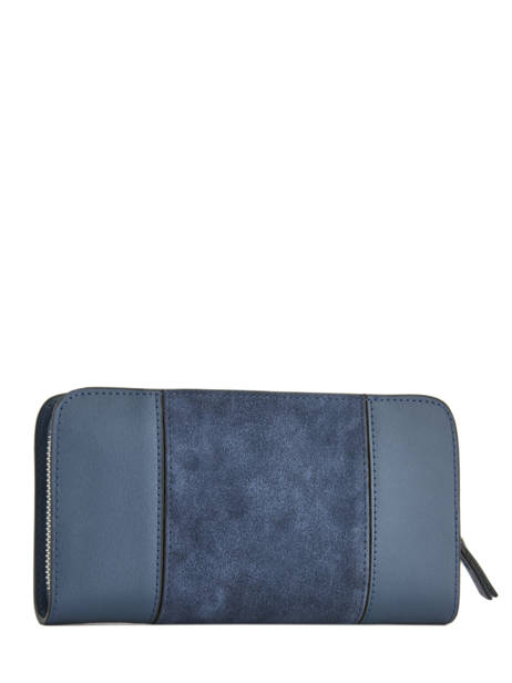 Wallet Leather Etrier Blue caleche ECAL901B other view 2
