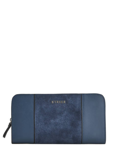 Wallet Leather Etrier Blue caleche ECAL901B
