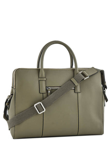 Briefcase Etrier Green caleche ECAL915 other view 3