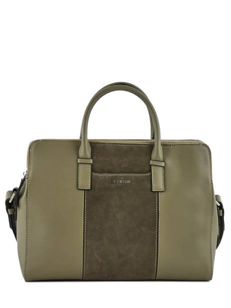 Briefcase Etrier Green caleche ECAL915