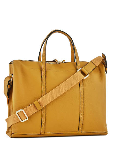Briefcase 2 Compartments Etrier Yellow tradition EHER006 other view 3