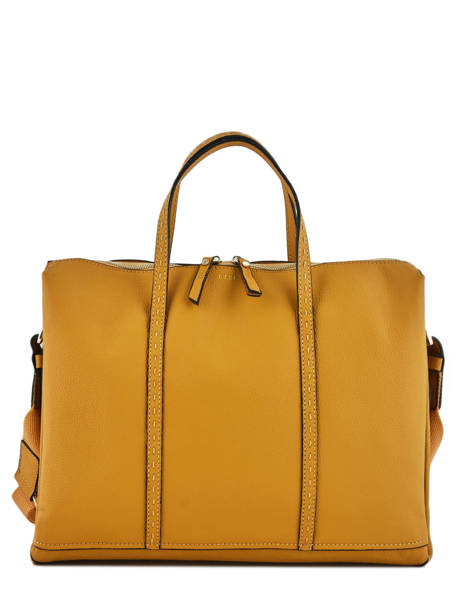 Briefcase 2 Compartments Etrier Yellow tradition EHER006