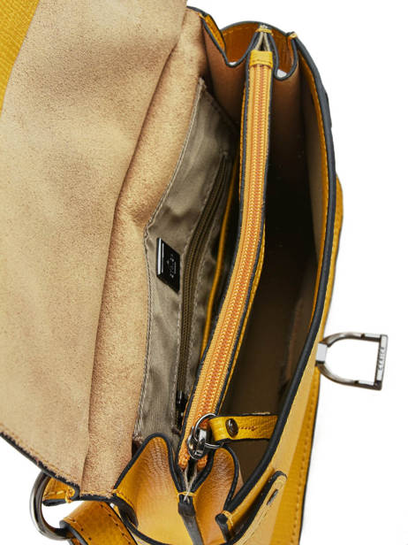 Shoulder Bag Tess Leather Etrier Yellow tess ETESS09 other view 4