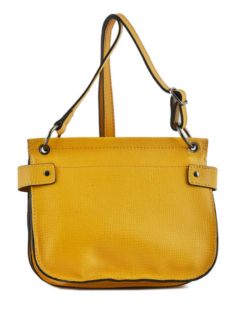 Shoulder Bag Tess Leather Etrier Yellow tess ETESS09 other view 3