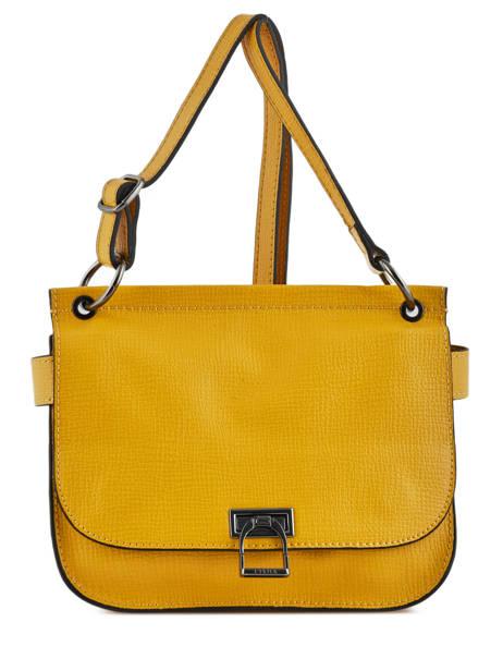 Shoulder Bag Tess Leather Etrier Yellow tess ETESS09