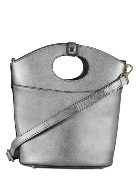 Shoulder Bag Kyo Leather Etrier Silver kyo EKY607 other view 3