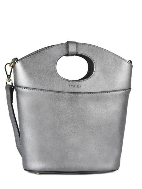 Shoulder Bag Kyo Leather Etrier Silver kyo EKY607