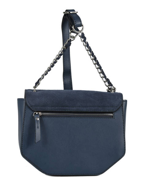 Shoulder Bag Caleche Leather Etrier Blue caleche ECAL012B other view 3