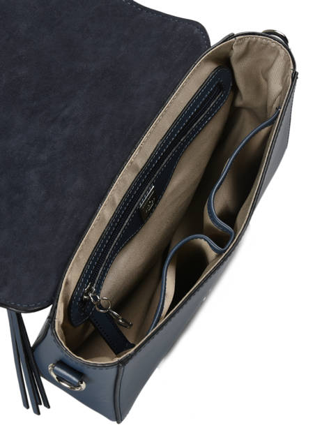 Shoulder Bag Caleche Leather Etrier Blue caleche ECAL013B other view 4