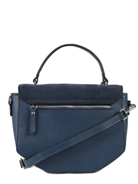 Shoulder Bag Caleche Leather Etrier Blue caleche ECAL013B other view 3