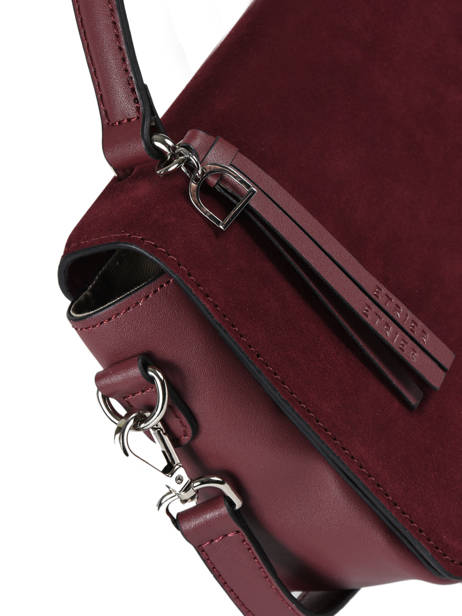Shoulder Bag Caleche Leather Etrier Red caleche ECAL013B other view 1