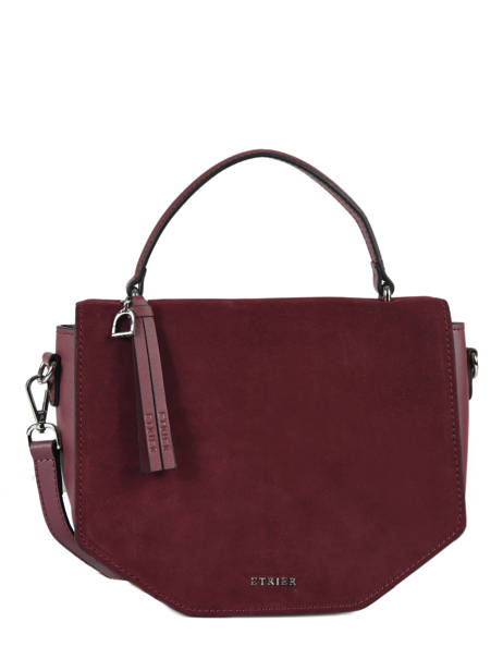 Shoulder Bag Caleche Leather Etrier Red caleche ECAL013B